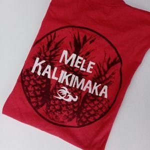 MELE KALIKIMAKA T SHIRT LARGE